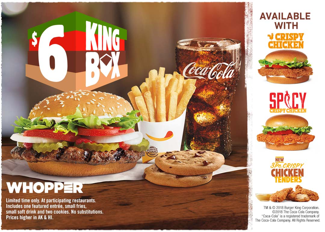 $6 Meal Deal with Cookies