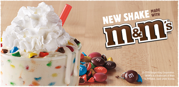 Vanilla Shake Made With M&M'S® Chocolate Candies
