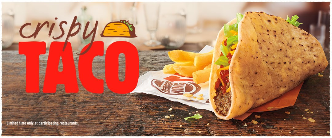 Crispy Taco. Limited time only at participating restaurants.