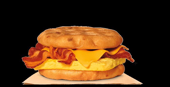 Bacon, Egg & Cheese Maple Waffle Sandwich